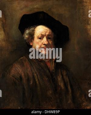 Self-Portrait - by Rembrandt van Rijn, 1660 - Stock Photo