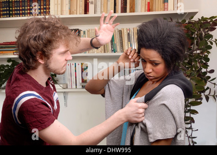 ABUSED WOMAN - Stock Photo