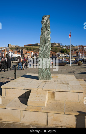 War memorial Whitby North Yorkshire England UK United Kingdom GB Great Britain - Stock Photo