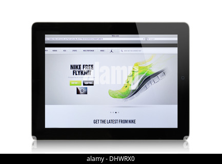 119ad299 NIKE athletic footwear website on computer screen Stock Photo ...