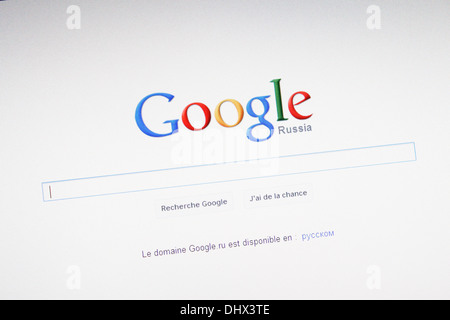Website for google russia search field, search engine