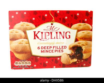 Box of Mr Kipling mince pies, UK - Stock Photo