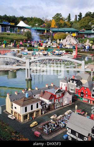 Miniland at Legoland, Windsor, UK - Stock Photo