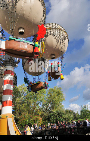 Balloon School in Traffic section of Legoland, Windsor, UK - Stock Photo