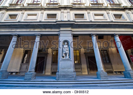 giotto statue,galleria degli uffizi,florence,italy - Stock Photo