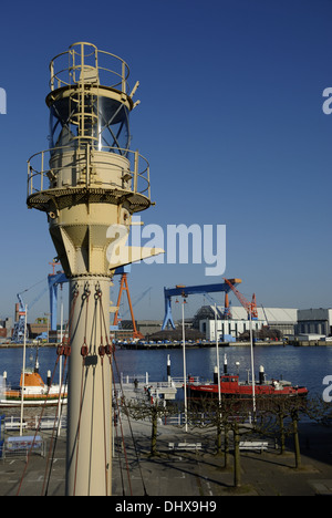 Lighthouse at the Maritime Museum in Kiel - Stock Photo