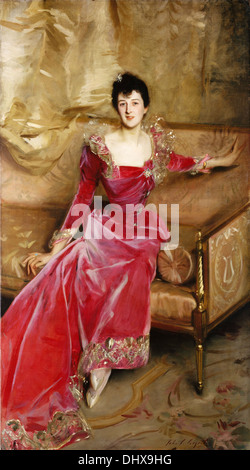Mrs. Hugh Hammersley - by John Singer Sargent, 1892 - Stock Photo