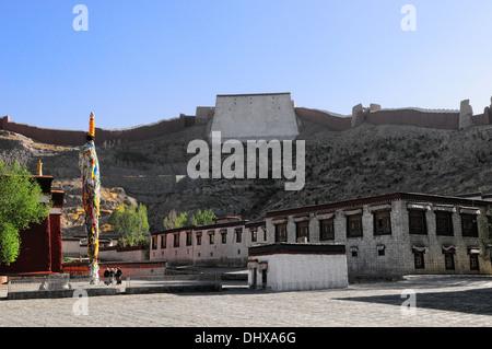 Gyantse monastery Palkhor Tibet China - Stock Photo