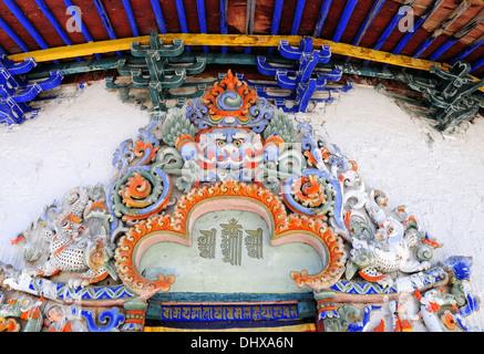 Tsuklahang Temple Gyantse Tibet China - Stock Photo