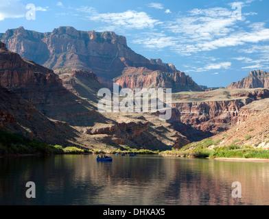 Rafting in calm waters in the Grand Canyon, Arizona, USA - Stock Photo