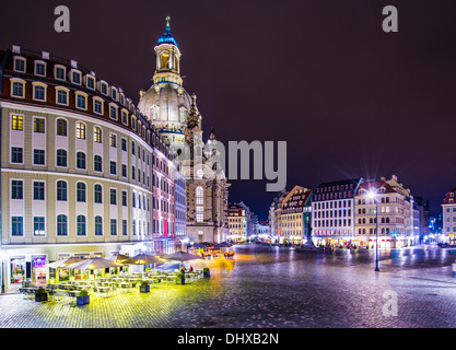 Dresden, Germany at Neumarkt Square. - Stock Photo