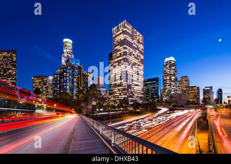 Downtown Los Angeles, California, USA skyline. - Stock Photo