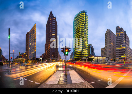 Potsdamer Platz is the financial district of Berlin, Germany. - Stock Photo