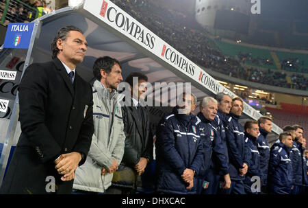 Milan, Italy. 15th Nov, 2013. Cesare Prandelli during the friendly match between Italy and Germany at San Siro Stadium - Stock Photo