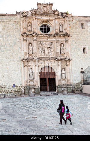 San Agustin Church and Convent in the historic district Oaxaca, Mexico. - Stock Photo