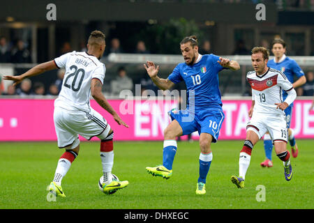 Milan, Italy. 15th Nov, 2013. Osvaldo during the friendly match between Italy and Germany at San Siro Stadium on - Stock Photo