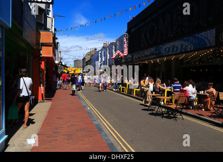 The Lanes in Brighton, East Sussex, United Kingdom - Stock Photo