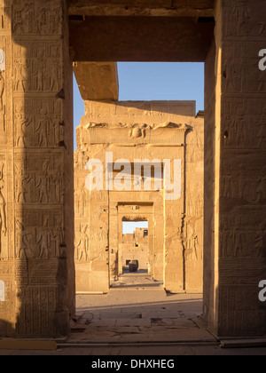 The Temple of Kom ombo dedicated to the gods Sobek and Horus the elder - Stock Photo