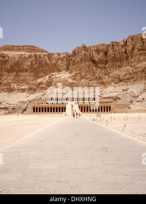The Mortuary Temple of Queen Hatshepsut, Egypt - Stock Photo