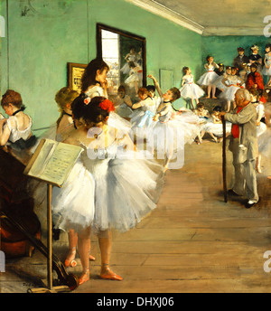 The Dance Class - by Edgar Degas, 1874 - Stock Photo