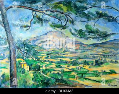 The Mont Sainte-Victoire - by Paul Cézanne, 1887 - Stock Photo