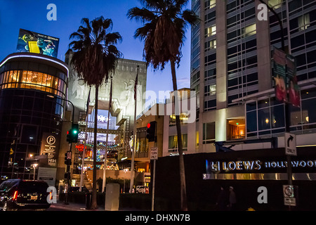 The Hollywood and Highland Center in Hollywood California - Stock Photo