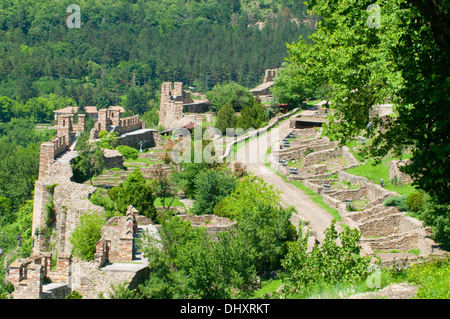 View from Tsarevets Fortress & Patriachal Cathedral of the Holy Ascension of God Veliko Tarnovo Bulgaria - Stock Photo