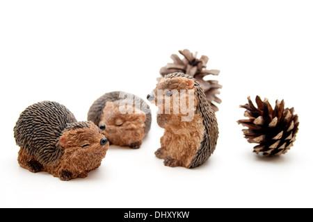 Hedgehog figure - Stock Photo