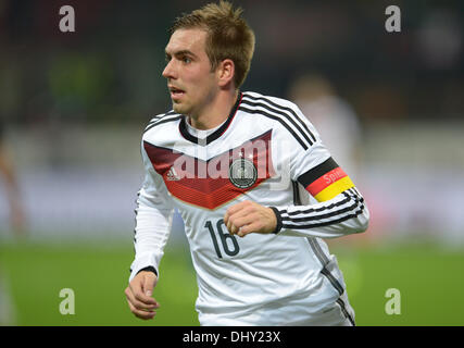 Milan, Italy. 15th Nov, 2013. Germany's Philipp Lahm during the friendly soccer match between Italy and Germany - Stock Photo