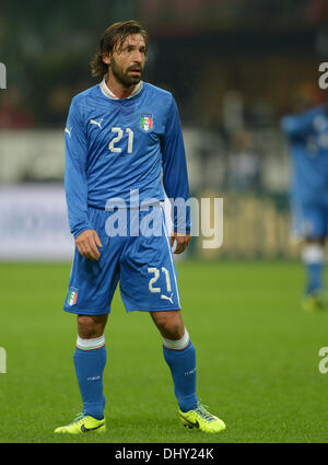 Milan, Italy. 15th Nov, 2013. Italy's Andrea Pirlo during the friendly soccer match between Italy and Germany at - Stock Photo