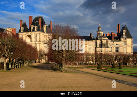 Palace (16th century), Fontainebleau, France - Stock Photo