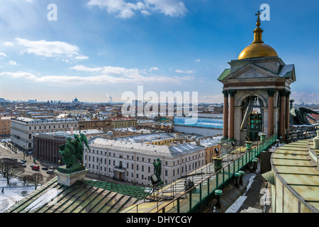 Aerial view of Saint Petersburg from Saint Isaac's Cathedral - Stock Photo