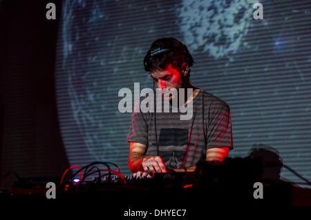 Barcelona, Catalonia, Spain, 16 November 2013, DJohnston (Spain) at the MIRA Music & Visual Arts Festival. - Stock Photo