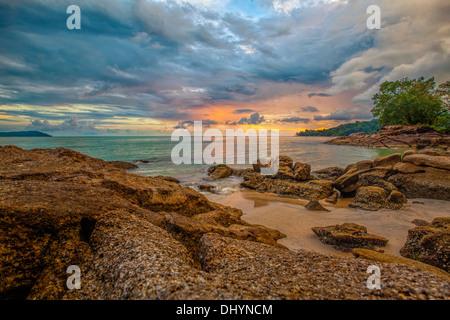 Langkawi sunset - Stock Photo