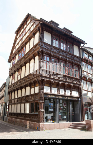 Historical building, tourist information, Einbeck, Lower Saxony, Germany, Europe, - Stock Photo