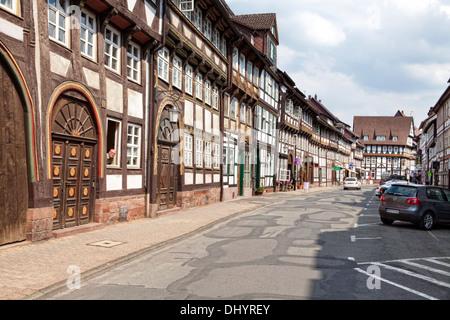 Half-timbered houses, Einbeck, Lower Saxony, Germany, Europe, Fachwerkhäuser, Einbeck, Niedersachsen, Deutschland, - Stock Photo