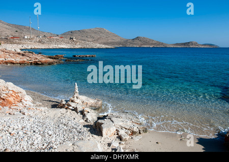 Griechenland, Dodekanes, Insel Chalki, Ftenagia-Strand - Stock Photo
