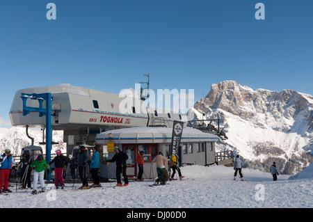 Tognola Ski lift, San Martino di Castrozza, Dolomiti. - Stock Photo