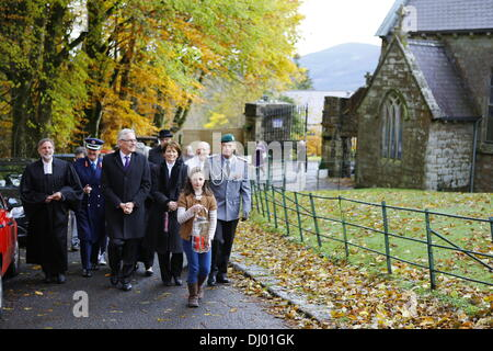 Dublin, Ireland. 15th November 2013. The procession leads to the German war cemetery in Glencree. It is lead by - Stock Photo