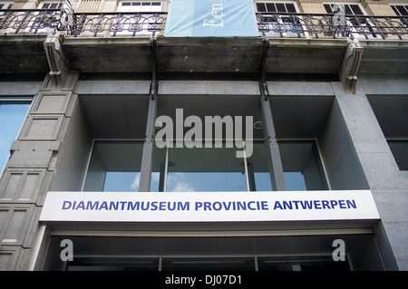 The Diamond Museum, in Antwerp's Diamond District - Stock Photo