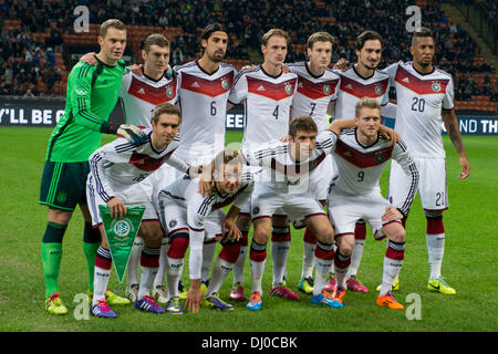 Germany team group line-up (GER), NOVEMBER 15, 2013 - Football / Soccer : Germany team group, (Top L-R) Manuel Neuer, - Stock Photo
