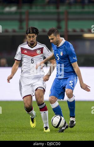 (L-R) Sami Khedira (GER), Thiago Motta (ITA), NOVEMBER 15, 2013 - Football / Soccer : International friendly match - Stock Photo