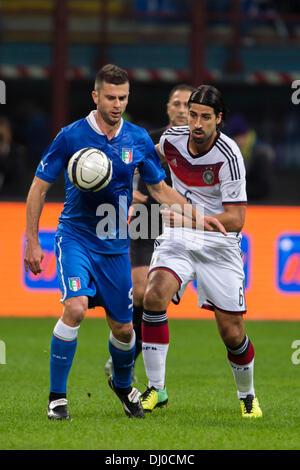(L-R) Thiago Motta (ITA), Sami Khedira (GER), NOVEMBER 15, 2013 - Football / Soccer : International friendly match - Stock Photo