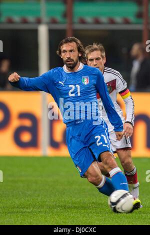 Milan, Italy. 15th Nov, 2013. Andrea Pirlo (ITA) Football / Soccer : International friendly match between Italy - Stock Photo