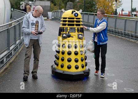 Daleks arriving at the 'Science of the Timelords' event in The National Space Centre at Leicester to celebrate the - Stock Photo