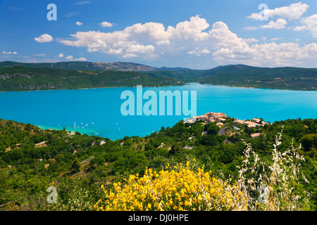 Sainte Croix du Verdon, France. Small town on the hill with a beautiful view. - Stock Photo