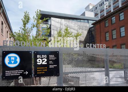 Brooklyn Navy Yard center Museum New York City - Stock Photo