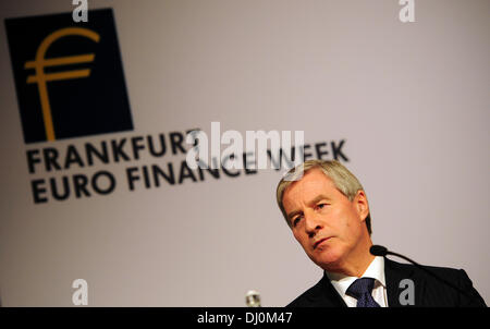 Frankfurt Main, Germany. 18th Nov, 2013. Deutsche Bank co-CEO Juergen Fitschen speaks during an event of the 'Euro Finance Week' in Frankfurt Main, Germany, 18 November 2013. The 16th Euro Finance Week takes place from 18 to 22 November 2013 and is considered the largest meeting of the finance and insurance industry in Europe. Photo: DANIEL REINHARDT/dpa/Alamy Live News Stock Photo