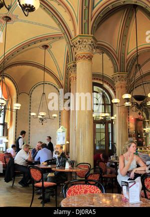 Interior of Cafe Central, Vienna, Austria - Stock Photo