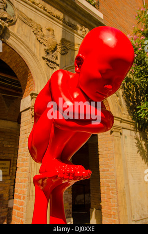Part of a sculpture at the Biennale 2013 in Venice, Italy - Stock Photo